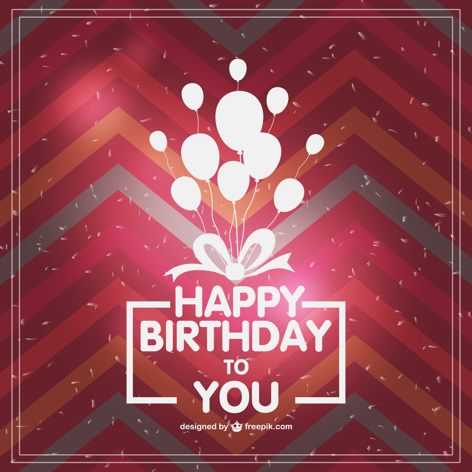 Retro typographic birthday card