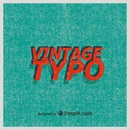 Retro typography vector background