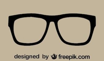 Retro Vector Glasses Icon