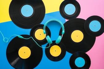 Retro vinyl concept