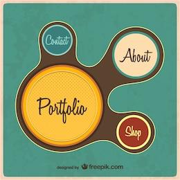 Retro web portfolio template