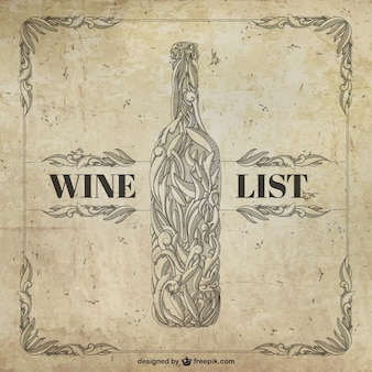 Retro wine list