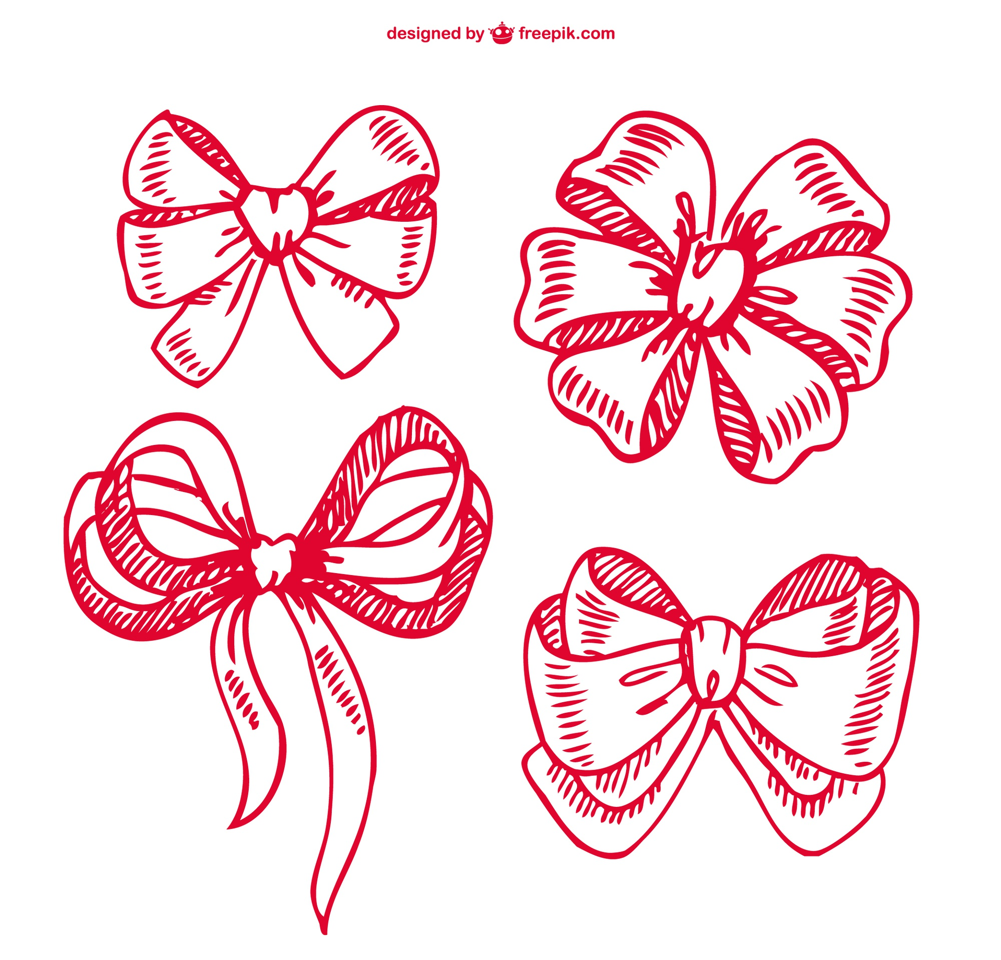 Ribbon doodles collection