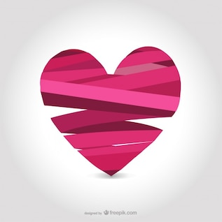 Ribbon heart design