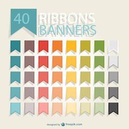 Ribbons banners pack