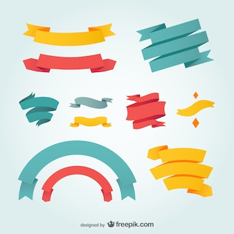 Ribbons design vector graphic