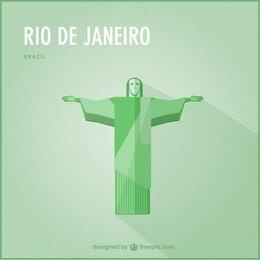 Rio de Janeiro vector landmark