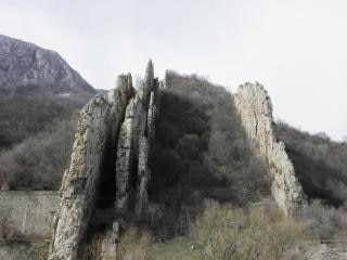 Ritlite-rock formation in the Iskar Gorg