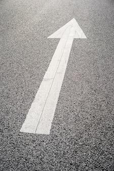 Road direction arow