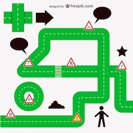 Road free vector design