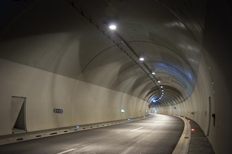 Road inside of a tunnel