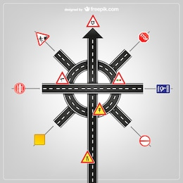 Road signs vector template