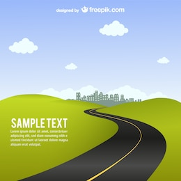 Road vector background