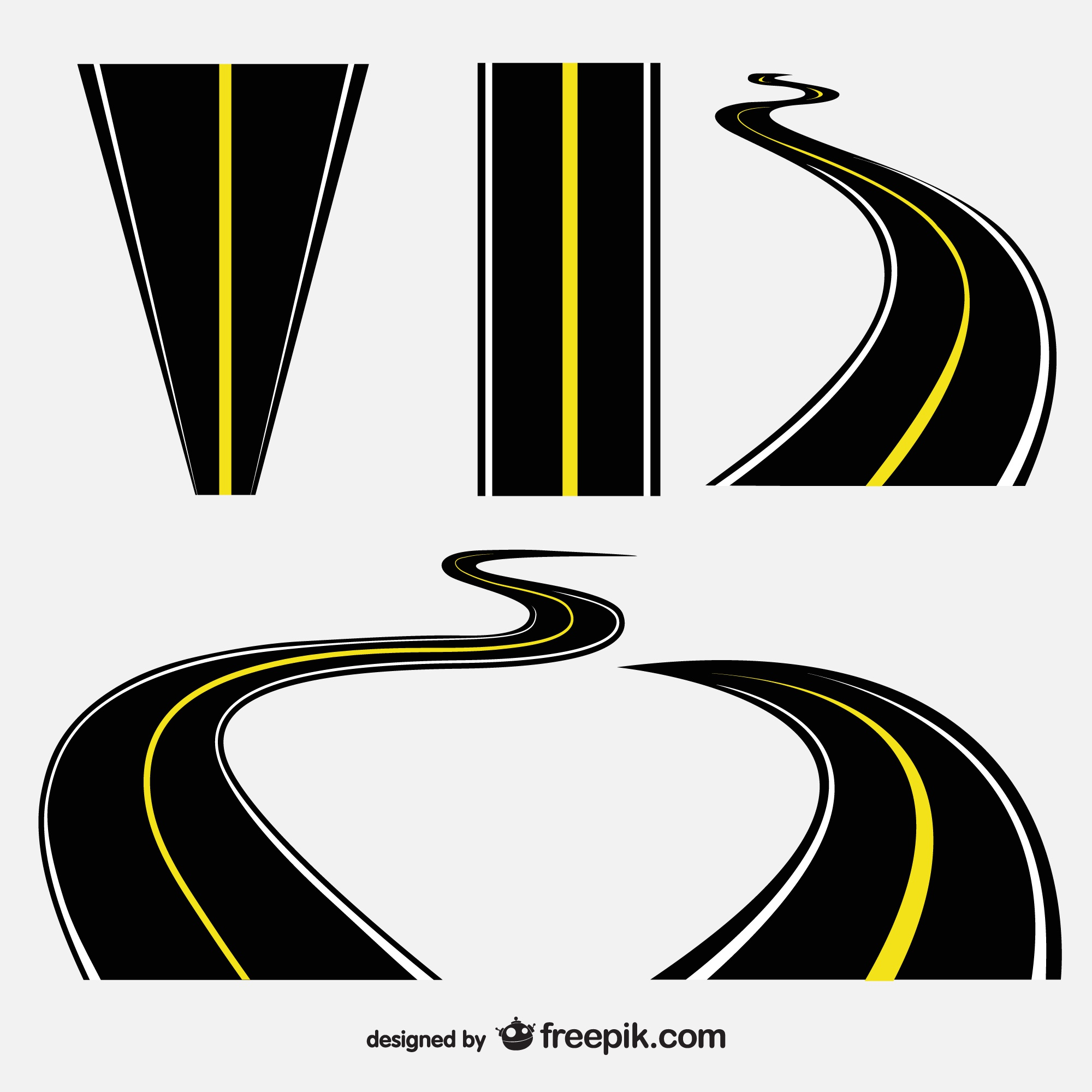 Roads vector collection
