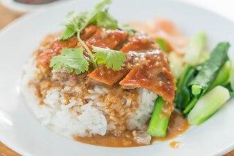 Roasted duck on rice