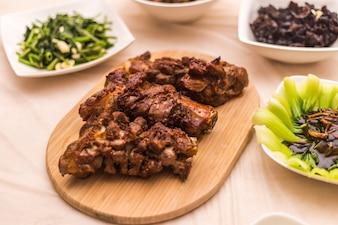 Roasted lamb dish