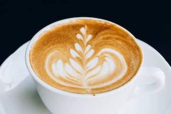 Roasted mug foam cafe espresso