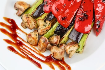 Roasted peppers with vegetables