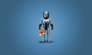 Robocop with cute bear PSD