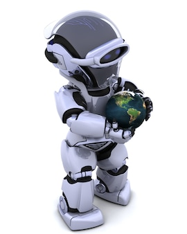 Robot and the earth