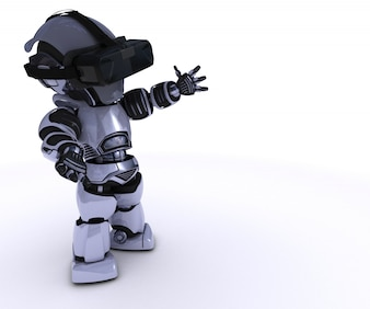 Robot playing in virtual reality