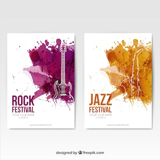 Rock festival posters