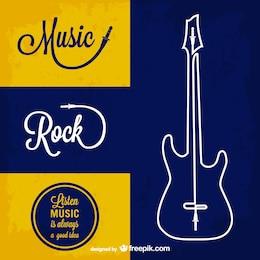 Rock music vector background