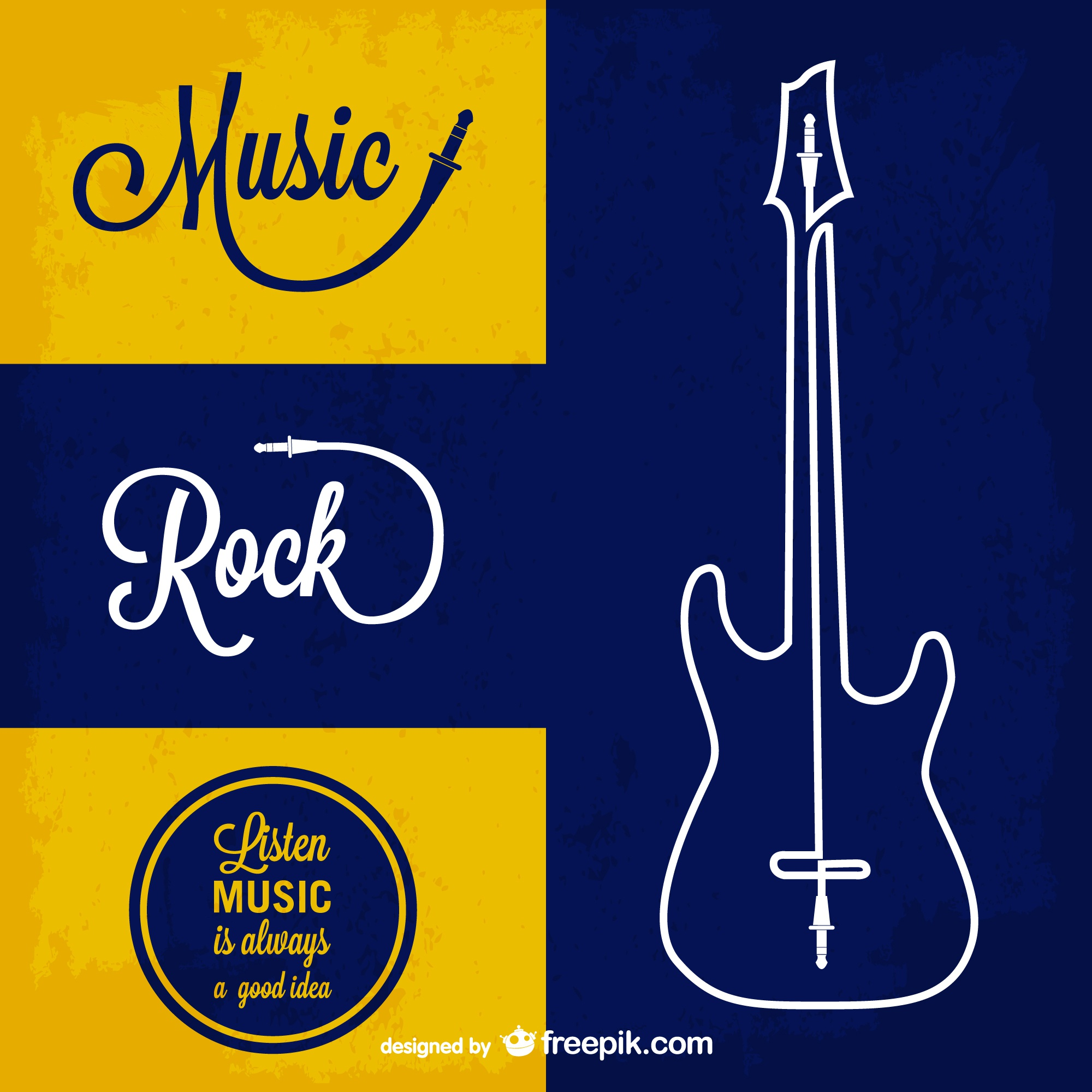 Rock music vector background
