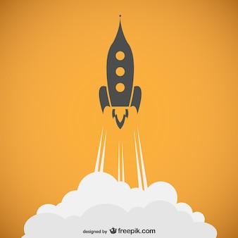 Rocket outline vector