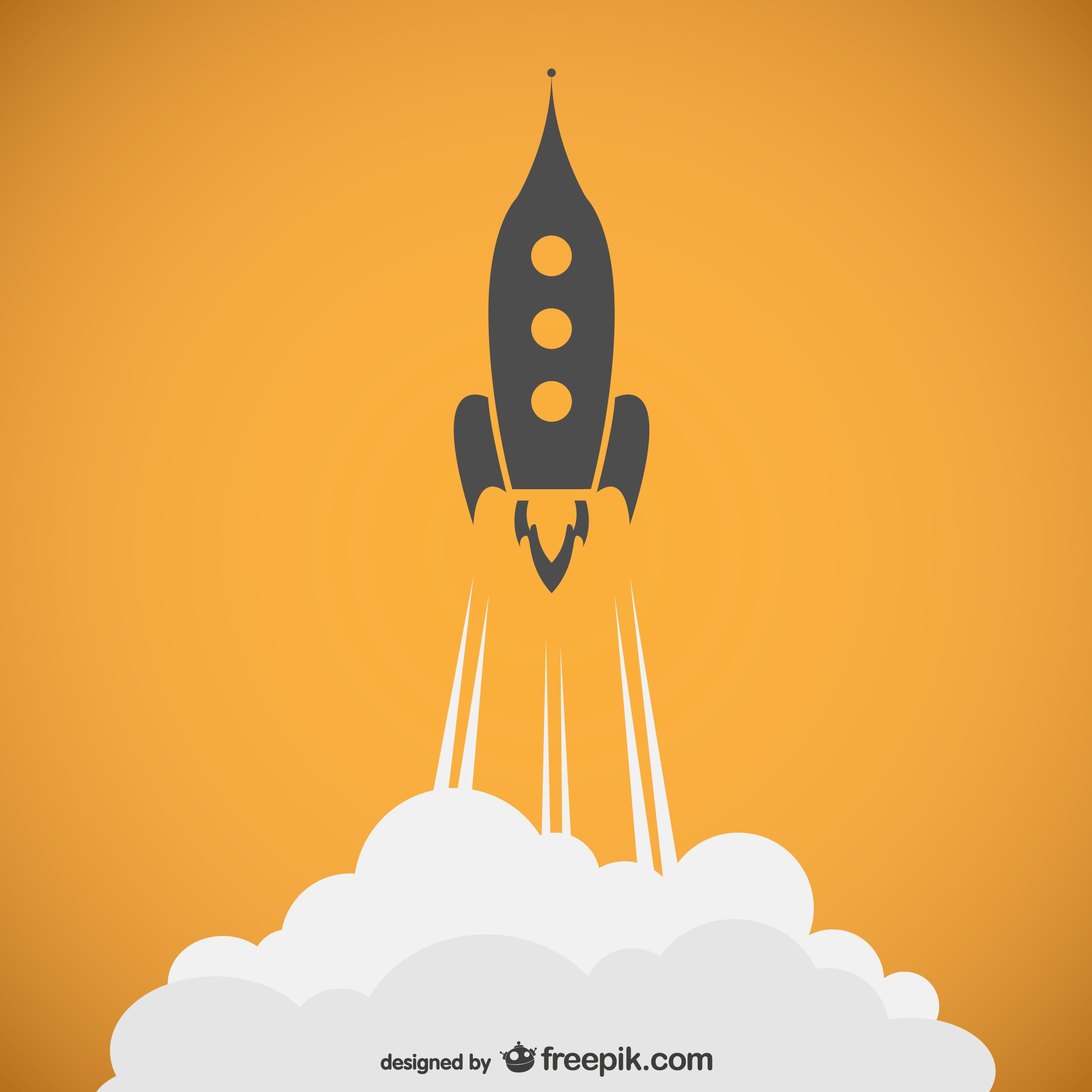 Rocket outline vector