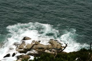 Rocking sea waves