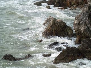 rocky coastline  background