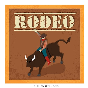 Rodeo cartoon vector