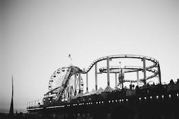 Roller coaster in pier