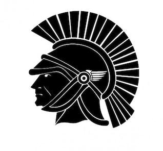 Roman soldier head image