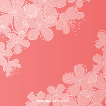 Romantic cherry blossom background