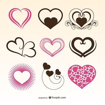 Romantic Valentine hearts