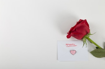 Rose and envelope