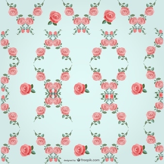 Roses vector pattern