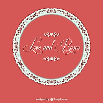 Roses wedding vector invitation