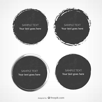 Round grunge templates