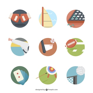 Round sports icons