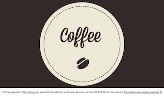 Rounded coffee badge vector