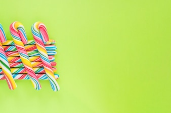 Rows of candy sticks