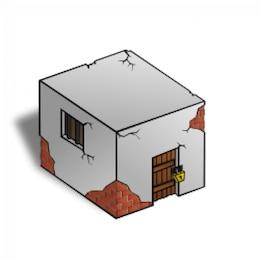 RPG map symbols: Jailhouse