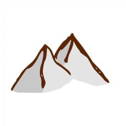 RPG map symbols: mountains