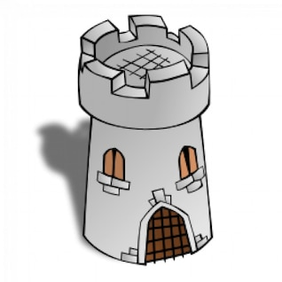 RPG map symbols: Round Tower