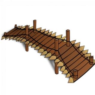 RPG map symbols: Wooden Bridge