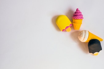 Rubbers in shape of ice-cream