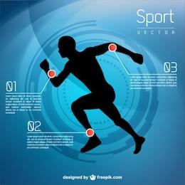 Runner vector infographic